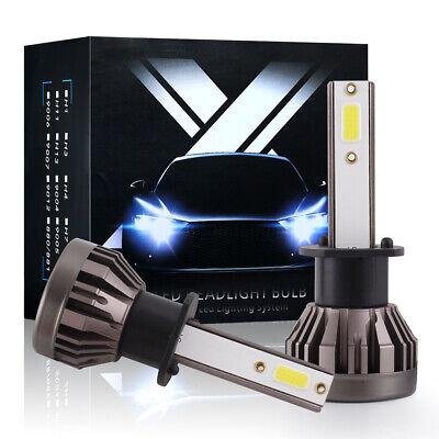 2x Mini H1 LED Light Bulbs High Beam Headlight 60W 7600LM 6000K Super Bright DOB