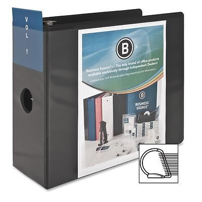 Business Source D-ring View Binder 5 Capacity 11x8-12 Black 28451