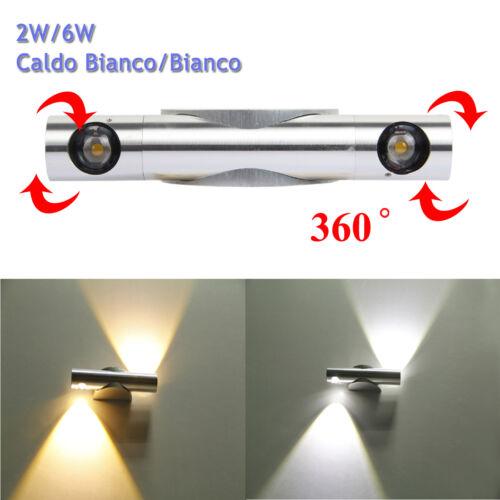 Applique Lampada da Parete LED Up Down Lampada Specchio Caldo Bianco/ Bianco CE