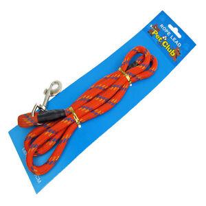 Strong-Nylon-Dog-Pet-Rope-Lead-Red-10mm-x-1metre-Trigger-Hook-Gundog