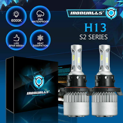 H13 9008 LED Headlight bulbs Hi/Lo Beam 2000W 6500K For Ford F-150 F-250 F-350