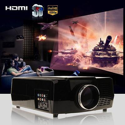 5000 Lumens HD Home Cinema Theater Multimedia LED/LCD Projector HDMI//VGA/AV/3D