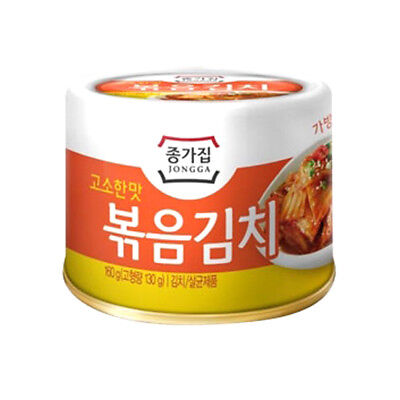 Stir-fried Kimchi Cabbage Can 5.6 Ounce Canned Korean Kimchi Spicy Food Jongga
