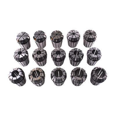15x Set Er25 2-16mm Spring Collet Fits Cnc Milling Lathe Tool Engraving Machine
