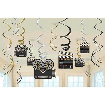 Hollywood Party Hanging Swirl Decoration Birthday Party Supplies ~ Camera - Hollywood Supplies