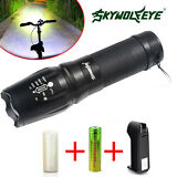 Genuine SHADOW HAWK X800Tactical Flashlight LED Zoom Military Torch G700 Battery