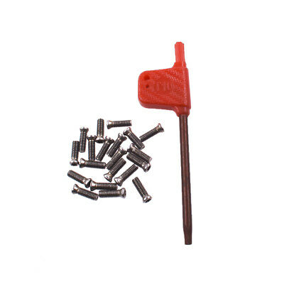 New 20pcs Insert Torx Screw For Carbide Inserts Lathe Tool M3 X 10mm Wrench