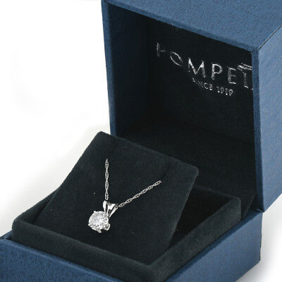 1/2ct Solitaire Round Diamond White Gold New Pendant Womens Necklace 3