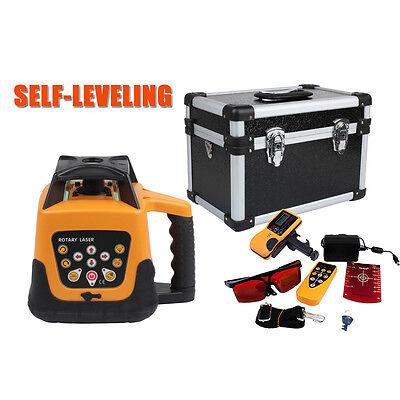 Ridgeyard Automatic Self-leveling 500m Red Beam 360 Rotary Laser Level Kit