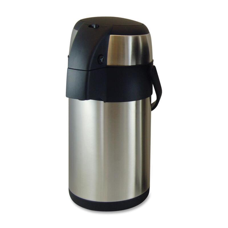 Genuine Joe Vacuum Pump Pot 2.5L. Stainless Steel 11960