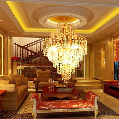 Swanky Crystal Chandelier Ceiling Light Lamp Pendant Lighting Fixture About