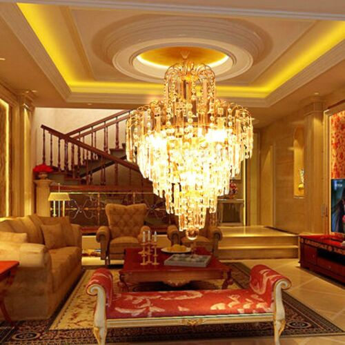 Elegant Crystal Chandelier Ceiling Light Lamp Pendant Lighting Fixture Home