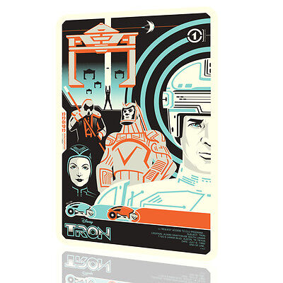 TIN SIGN TRON Disney Legacy Movie Poster Classic Mondo Art Wall Vintage Metal #2