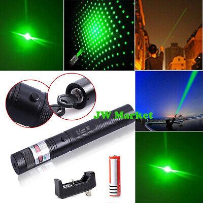 500Mile 532nm 303 Green Laser Pointer Visible Beam Light Lazer Pen+18650+Charger