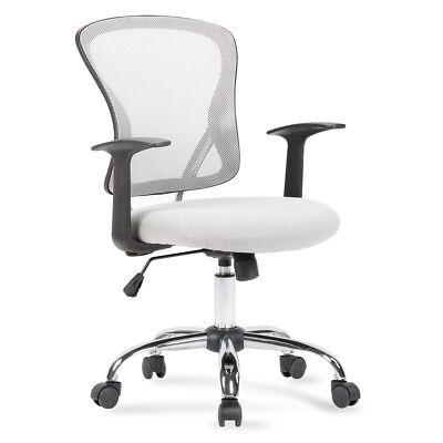 NEW Ergonomic Midback Swivel Mesh Task Computer Office Chair Desk Seat, Gray