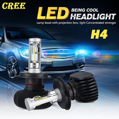 H4 HB2 9003 420W 42000LM CREE LED Headlight Kit Hi/Low Beams Bulbs 6000K White