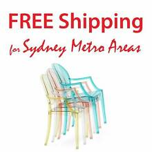 SALE - Philippe Starck Style Louis Ghost Chair (Set of 4) Zetland Inner Sydney Preview