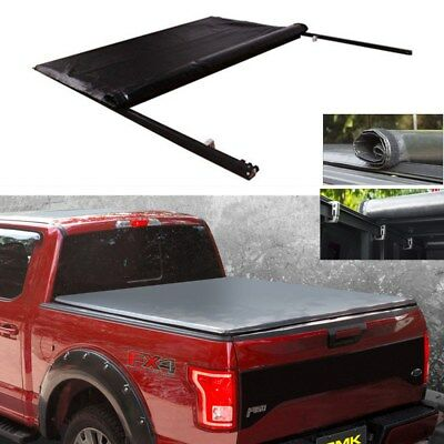 FOR 94-01 Dodge Ram 1500/2500/3500 6.5 Short Bed Lock Roll Up Soft Tonneau Cover ()