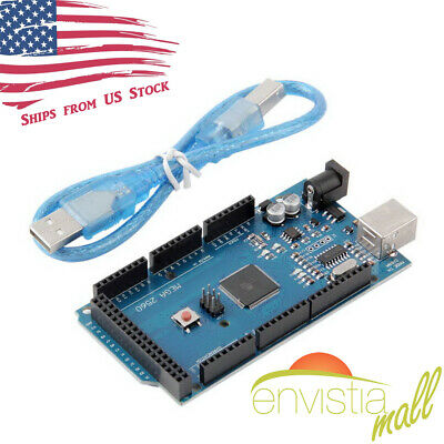 Mega2560 R3 Atmega2560-16au Ch340g Development Board For Arduino W Wout Cable