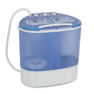 غسالة ملابس جديد Portable Mini Dual Compact Washing Machine Washer Spin Dryer Set RV Dorm 7.9LBS