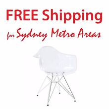 SALE - Eames Style DAR Dining Chair - Transparent Zetland Inner Sydney Preview