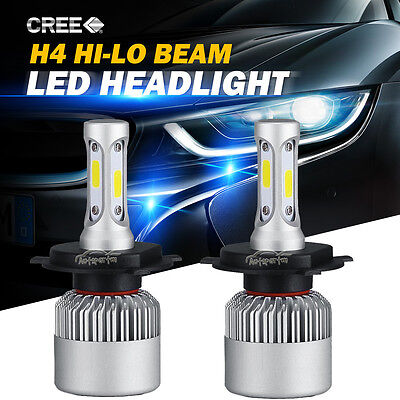 160W 16000LM PHILIPS H4 9003 HB2 LED Headlight Kit High/Low Beam Head Fog Bulbs