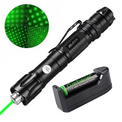 90mile 532nm Green Laser Pointer Visible Beam Light Lazer Pen18650 Battcharger