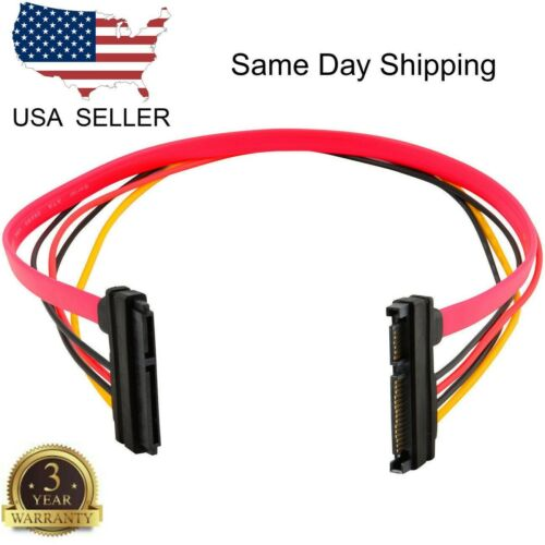 15+7 Pin SATA HDD Extension Cable Data & Power Male to Female