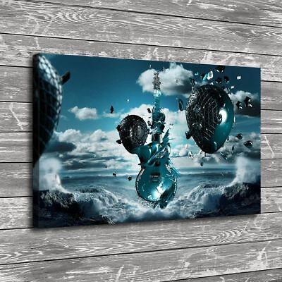 Free 3D Music Home Decor HD Canvas prints Picture Room Wall art Painting 16