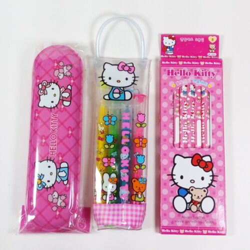 Sanrio Hello Kitty Stationery Set #2 Pencils Pencil Case Highlighter A12
