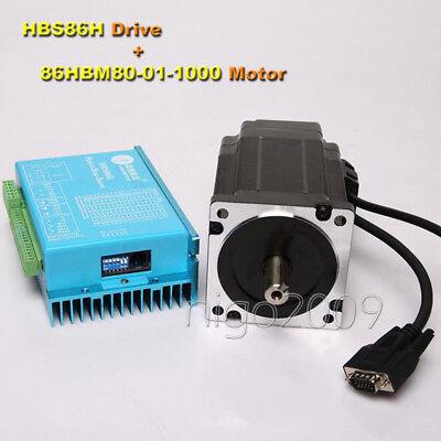 Leadshine Hybird Servo Drivemotor Kit 86hbm80-01-1000hbs86h 8.0n.m 1.8 Degree