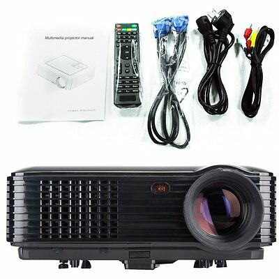 3D 1080P Home Theater Cinema Projector  LED / LCD HDMI AV TV VGA HD Projectors
