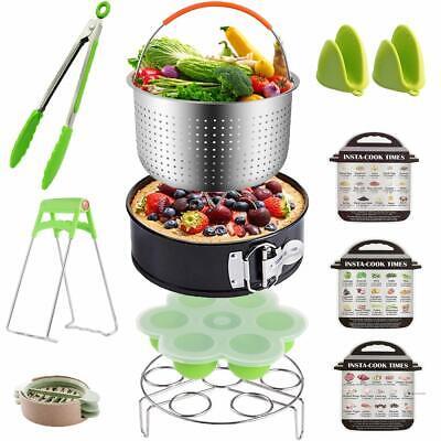 12 pieces Instant Pot Fit 6 qt 8 Quart Cooker Accessories Set w/Steamer Basket