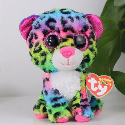 """6""""Beanie Boos Glitter Eyes Plush Stuffed Animals Toy Kids Xmas Gift With tags A2"""