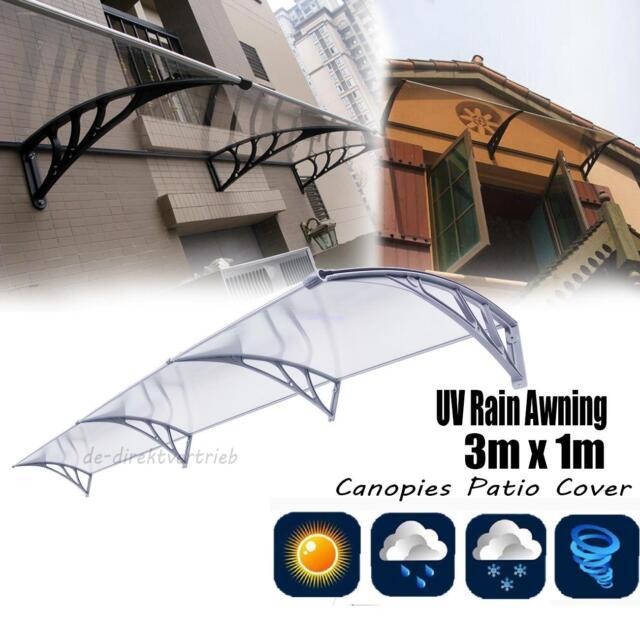 UV Rain 3m x 1m Awning Canopies Patio Cover  Gardenning Protection Window Awnin