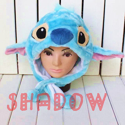 Disney LILO Stitch Costume Cosplay Plush Warm Hat Cap Handmade For Kids/Adults