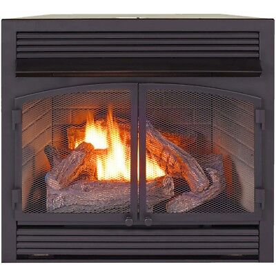 ProCom Heating Dual Fuel Ventless Fireplace Insert - 32,000 BTU, T-Stat Control