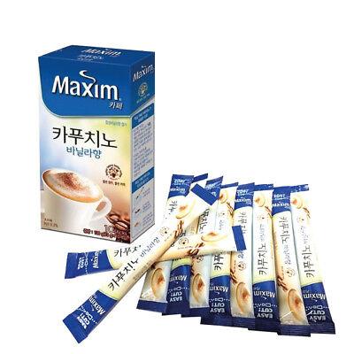 Korea Instant Coffee Mix Maxim Cappuccino Vanilla 13g X 10 Sticks
