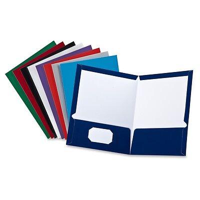 Oxford Laminated Twin Pocket Folder - 8.50 X 11 Letter Sheet Size - 1 Per