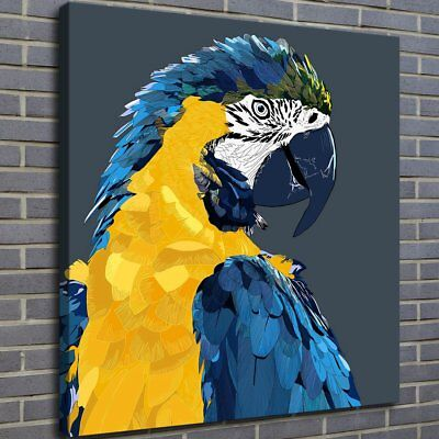Parrot Macaw Bird Painting HD Print on Canvas Home Decor Room Wall Art Picture