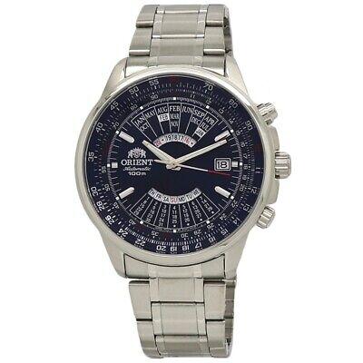 Orient Perpetual Calendar FEU07008DX Blue Dial Stainless Steel Men's Watch