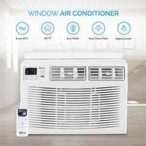 Remote Control Window Mount 8000 BTU Mini Air Conditioner Energy Star AC White