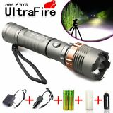 Tactical Police CREE XML T6 8000LM LED Zoomable Flashlight+18650 Battery+Charger
