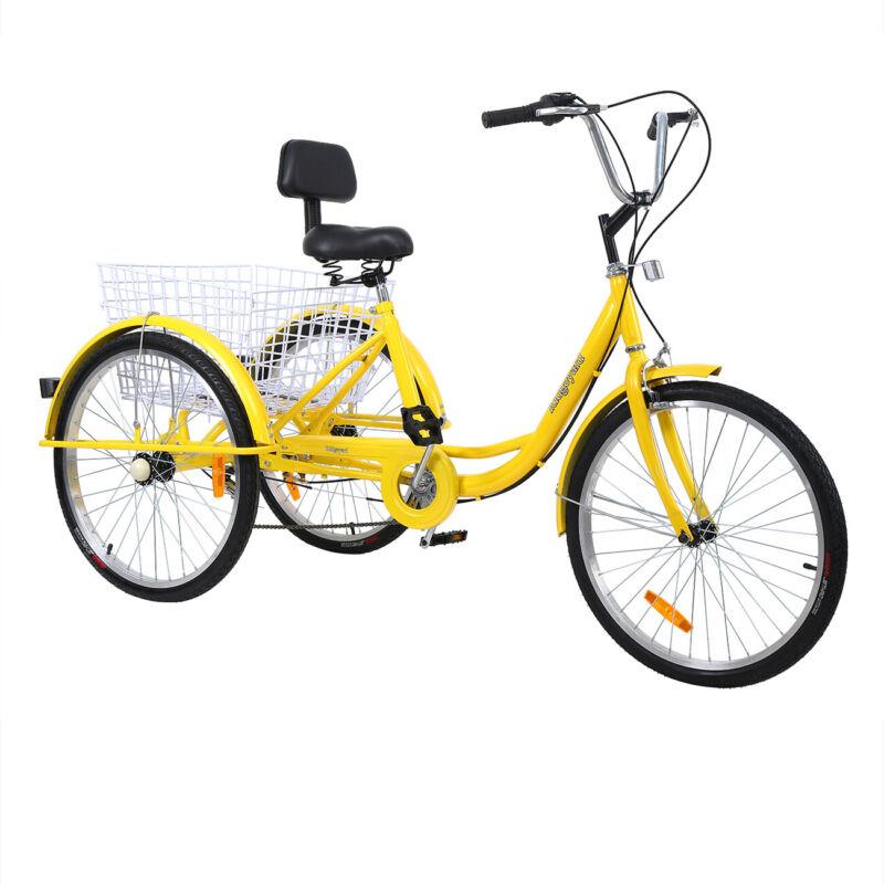 3-Wheel 7-Speed Bike Trike Cruise Basket+Free Gift