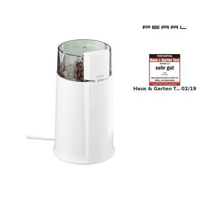 PEARL Elektrische Kaffeemühle MH-20 mit Schlagmahlwerk, 160 Watt, 8 Tassen NEU Kaffeemühle