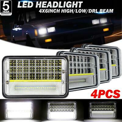 "4Pcs 4x6"" inch LED Headlights Lamp Hi-Lo DRL Sealed Beam for Ford 1980-1991 LTD"