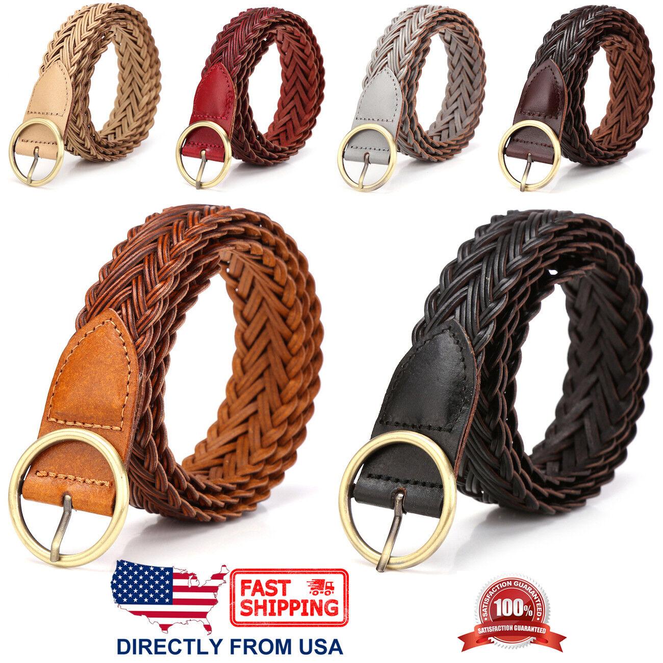 Women's Casual Belt, Handcrafted Braided Leather Belt Belts