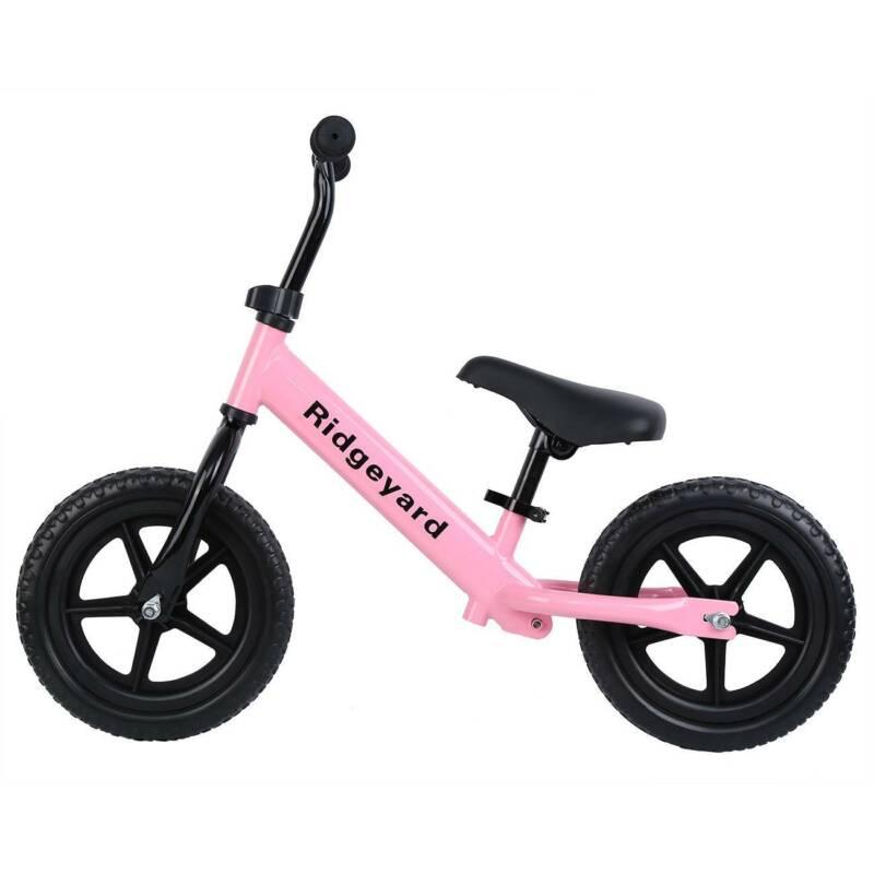 "Ridgeyard 12"" Balance Bike Kids Child No-Pedal Ride Bike Adj"