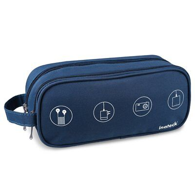 Inateck Blue Portable Digital Storage Bag Electronics Access