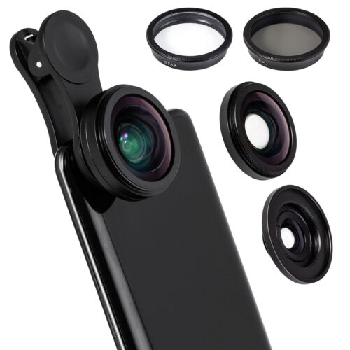 4 in 1 Professional Phone Camera Lens Kit Clip On for iPhone SAMSUNG Smartphone Cell Phone Accessories